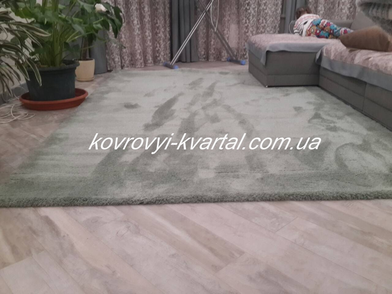 Микрофибра-1000a-Green-Rubin-Plus-Soft-Shaggy